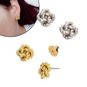 Tory Burch Geometric Button Earrings